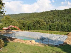 Wasserdichte Poolplanen für den Bau von Teichen und Pools