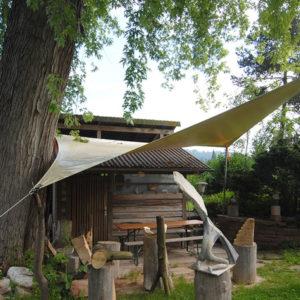 PVC Plane als Sonnensegel