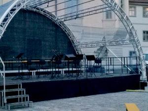 transparente Bühnenplane für Events