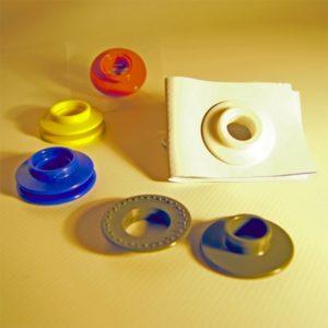 Kunststoff Ösen in verschiedenen Farben